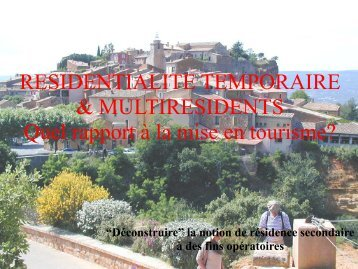 Vision sociologique historique économique du ... - Atout France