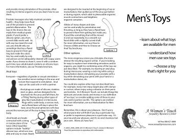Men's Toys - A Woman's Touch