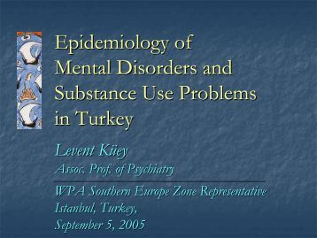 Epidemiological issues in health needs assessment