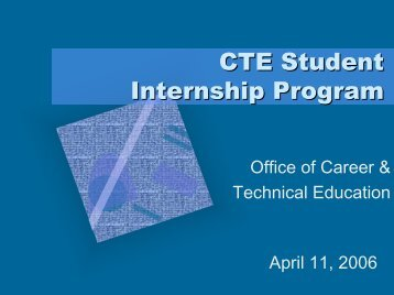 CTE Student Internship Program - Brevard Public Schools