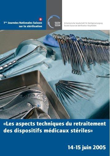 14-15 juin 2005 - Société Suisse de Stérilisation Hospitalière