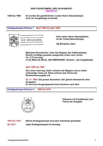 Ersttagsstempel 1929-2012 - Briefmarkengilde St. Gabriel Schweiz