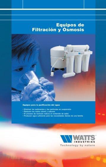 Equipos de Filtración y Ósmosis - Watts Industries