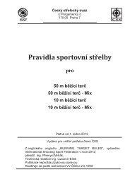 Pravidla sportovní střelby - Český střelecký svaz