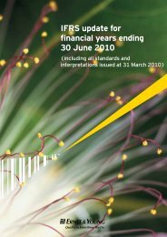 IFRS update for financial years ending 30 June 2010 - Ernst & Young