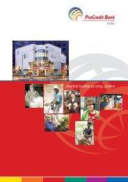 Godišnji izveštaj za 2005. godinu - ProCredit Bank
