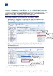 Generisk substitution ud fra Sundhedsstyrelsens liste dec. 2012