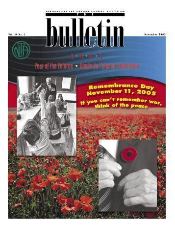 The Bulletin, Vol. 49. No. 2, November 2005 from the NL Teachers ...