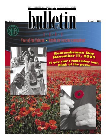 The Bulletin, Vol. 49. No. 2, November 2005 from the NL Teachers ...
