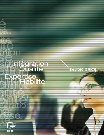Pour plus de détails, consultez notre profil corporatif - Société GRICS