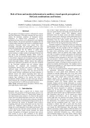 Role of form and motion information in auditory-visual speech ... - Free