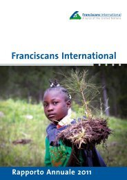 Franciscans International Rapporto Annuale 2011