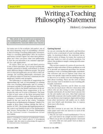 Statement of teaching philosophy writing a teaching philosophy statement volume 53 number 11 maxwellsz