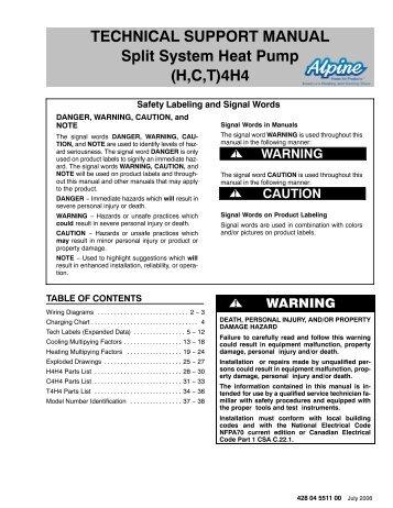 heller split system air conditioner manual