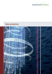 Data protection - Lawrence Graham