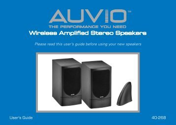 Wireless Amplified Stereo Speakers
