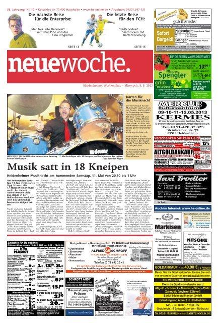 Musik Satt In 18 Kneipen Heidenheimer Zeitung