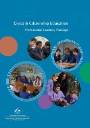 Professional Learning Package - Civics and Citizenship Education