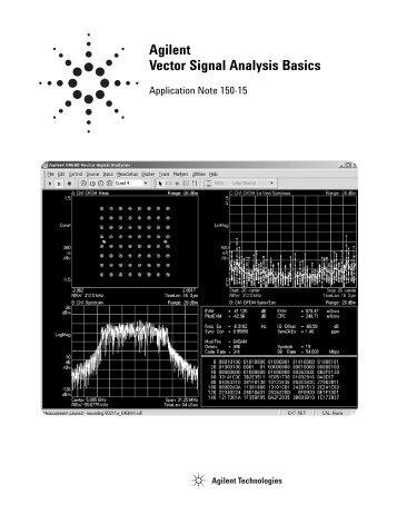 Agilent Vector Signal Analysis Basics - Agilent Technologies