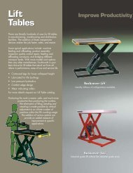 Lift Tables - Marsh Micro Systems