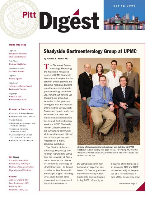 Endoscopy Department: Shadyside Gastroenterology Group At UPMC