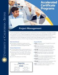 Accelerated Certificate Programs - UC Irvine Extension