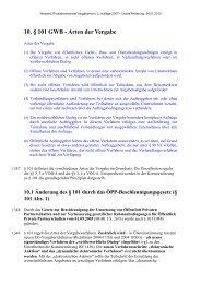 10. § 101 GWB - Arten der Vergabe - Oeffentliche Auftraege