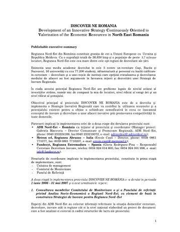 Raport an II - Agentia pentru Dezvoltare Regionala Nord-Est