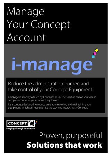 Manage Your Concept Account - Concept Group