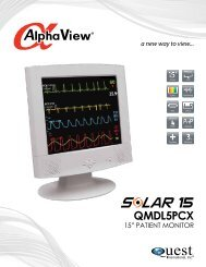 QMDL5PCX Patient Monitoring Display Solutions - Quest International