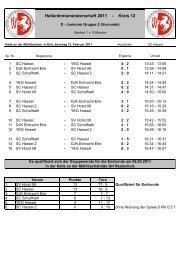 D - Junioren Gruppe 2 Ergebnisse - Kreis 12