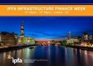 IPFA INFRASTRUCTURE FINANCE WEEK - Support