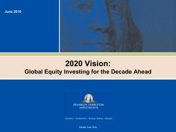 2020 Vision: Global Equity Investing Today for the Decade ... - CIFPs