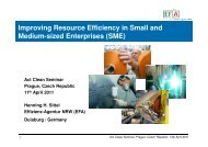 Improving resource efficiency in smes