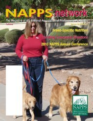 Fall 2009 - National Association of Professional Pet Sitters