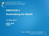 Rulemaking for BizAv, Willy Sigl - eBace