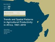 Download Trends and Spatial Patterns in Agricultural ... - FANRPAN