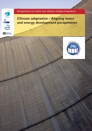 Perspectives on Water and Climate Change Adaptation • 12 • Energy