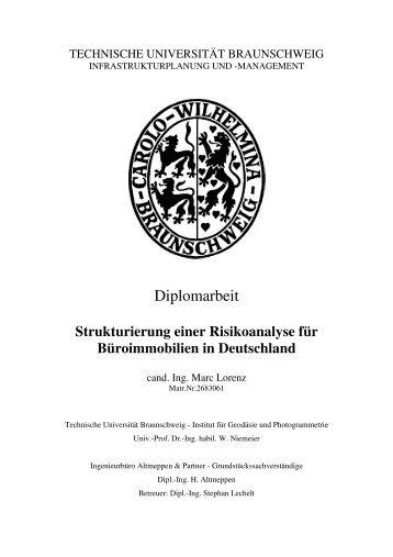 Strukturierung einer Risikoanalyse für Büroimmobilien ... - Altmeppen