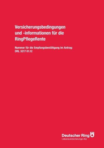 informationen für die RingPflegeRente - IG BCE Bonusagentur
