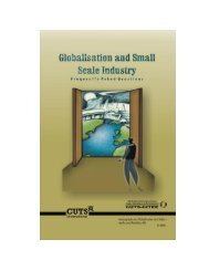 Globalisation and Small Scale Industry web - CUTS Centre for ...