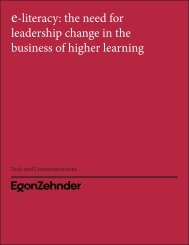 the need for leadership change in the business of higher learning