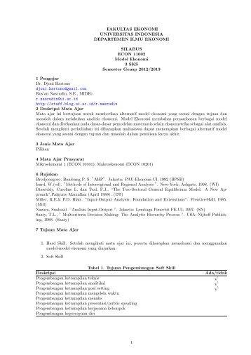 SilabusModek2013 - Blog Staff UI - Universitas Indonesia