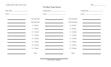 Score Sheet (blank) with Explanation & Criteria for Scoring