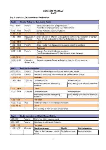 WMAP Draft Training Programme - amarc