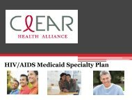 Clear Health Alliance - The AIDS Institute