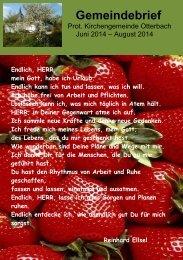 Gemeindebrief - Protestantisches Dekanat Otterbach