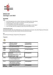 BRASS DAY Samstag 8. Juni 2013 Konzept - MG Brass Band ...