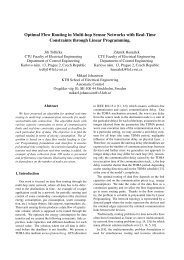 Optimal Flow Routing in Multi-hop Sensor Networks with Real-Time ...