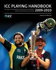 ICC Playing Handbook 2009-10 - Amazon Web Services